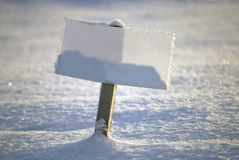 Blank signboard Royalty Free Stock Image