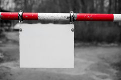 Blank signboard Royalty Free Stock Images
