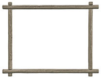 Blank Signboard Frame, Isolated Copy Space, Grey Wooden Texture, Grunge Aged Rustic Weathered Empty Textured Gray Wood Framing. Blank Signboard Frame, Isolated Royalty Free Stock Images