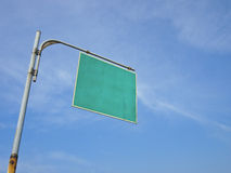 Blank signboard Royalty Free Stock Photo