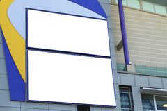 Blank signboards Stock Photo
