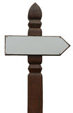 Blank signpost Stock Photography