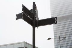 blank signpost Arkivbild