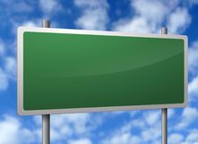 Blank signpost Royalty Free Stock Images