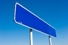 blank signpost Royaltyfri Bild