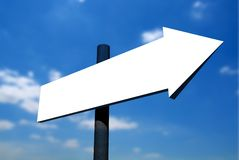 Blank signpost against sky 2 Royalty Free Stock Photography