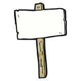 blank signpost cartoon stock illustration