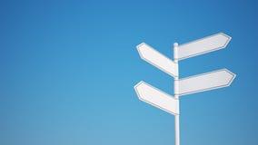 Blank Signpost Stock Photos