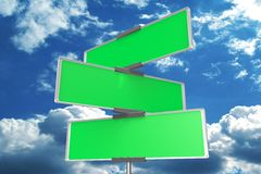 Blank signpost... Stock Photography