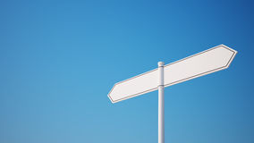 Blank Signpost Royalty Free Stock Photography