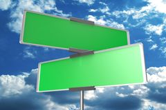 blank signposts... Stock Images