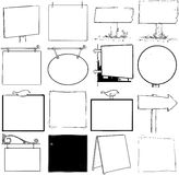 Blank signs. An assortment of blank signs Royalty Free Illustration