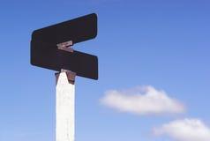 Blank Signs Crossraods Street Avenue Sign Blue Skies Clouds Stock Image