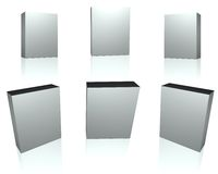 Blank silver boxes Royalty Free Stock Photos