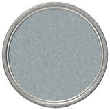 Blank silver coin. Empty silver coin isolated on a white background royalty free stock photos