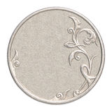 Blank silver coin royalty free stock image