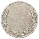 Blank silver coin Royalty Free Stock Photos