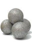 blank silver för bolljulgarnering Arkivfoto