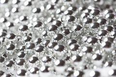 blank silver för julhalsbandpärla fotografering för bildbyråer