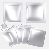 Blank silver foil plastic powder sachet Royalty Free Stock Photos
