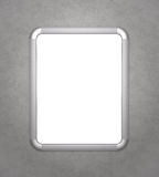 Blank silver frame Royalty Free Stock Photos
