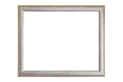 Blank silver and gold picture frame Stock Photography