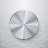 Blank silver knob or button Stock Photo