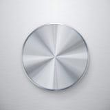 Blank silver knob or button Stock Photo