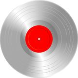 Blank silver LP Royalty Free Stock Image