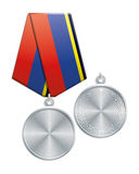 Blank silver medal Royalty Free Stock Photography