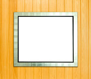 Blank silver picture frame Royalty Free Stock Photography