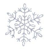 blank silversnowflake Royaltyfri Fotografi