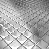 blank silvertegelplatta för aluminium bakgrund Royaltyfria Bilder