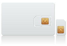 Blank SIM Card. Easily customizable with your logo or design, on white background. Eps file available Royalty Free Stock Images