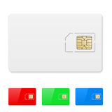 Blank SIM card Stock Photography