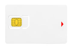 Blank Sim Card with chip Royalty Free Stock Images