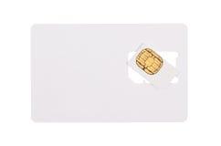 Blank sim card Royalty Free Stock Photo