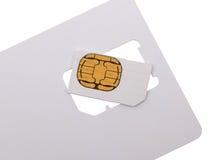Blank sim card Royalty Free Stock Photography