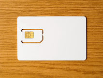 Blank SIM card Stock Photos