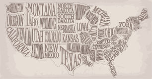 Blank similar high detailed decorative USA map on white backgrou Stock Photography