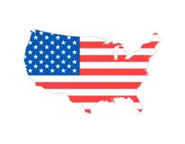 Blank similar USA map isolated on white background. United States of America country. Vector template for website. Design, cover, infographics. Graph Royalty Free Stock Image