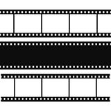 Blank simple film strip set Royalty Free Stock Image