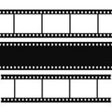 Blank simple film strip set Royalty Free Stock Image