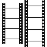 Blank simple film strip set. Vector illustration Royalty Free Stock Photo