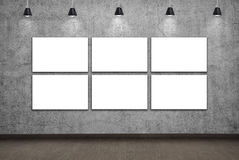 Blank six  placard Royalty Free Stock Photography