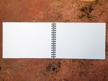 Blank Sketch Book Stock Photo