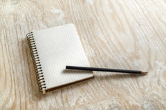 Blank sketchbook Royalty Free Stock Photography