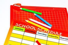 Blank skolar schema Fotografering för Bildbyråer