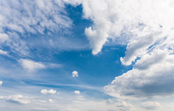 Blank sky surface with small clouds Royalty Free Stock Photography