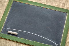 blank slate blackboard green with chalk stock illustration